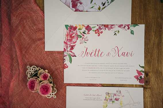 invitación de boda de flores